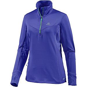 Salomon Trail Runner Winter Laufshirt Damen lilablau