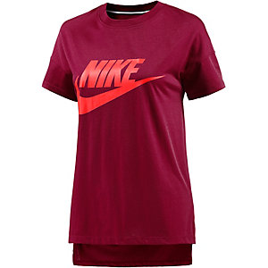 Nike T-Shirt Damen bordeaux