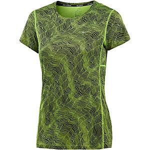 Nike Dri-Fit Miler Funktionsshirt Damen schwarz/gelb