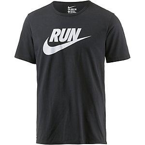 Nike Run T-Shirt Herren schwarz