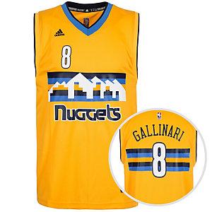 adidas Denver Nuggets Gallinari Replica Basketball Trikot Herren gelb / blau