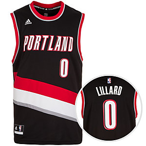 adidas Portland Trail Blazers Lillard Replica Basketball Trikot Herren schwarz / rot / weiß