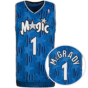 adidas Orlando Magic McGrady Swingman Basketball Trikot Herren blau / schwarz