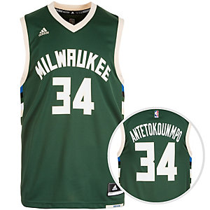 adidas Milwaukee Bucks Antetokounmpo Replica Basketball Trikot Herren grün / weiß