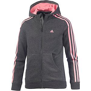 adidas Sweatjacke Mädchen dunkelgrau/rosa