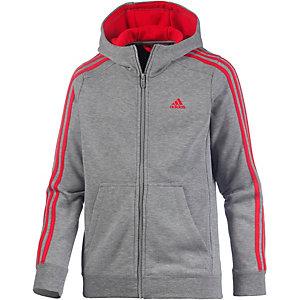 adidas Sweatjacke Jungen dunkelgrau/rot