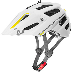 Cratoni Alltrack Fahrradhelm gelb/weiß