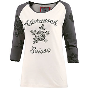 Alprausch T-Shirt Damen weiß/anthrazit