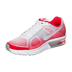 Nike Air Max Sequent Laufschuhe Kinder rot / grau