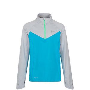 Nike Element Halfzip Laufshirt Kinder hellblau / grau