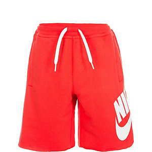 Nike French Terry Alumni Shorts Kinder rot / weiß