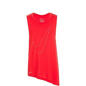 Nike Side Tie Funktionstank Mädchen rot