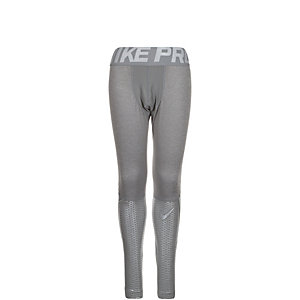 Nike Pro Hypercool Max Tights Jungen grau / silber