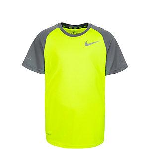 Nike Laufshirt Kinder gelb / grau / silber