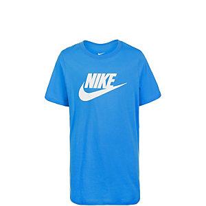 Nike Futura Icon Funktionsshirt Kinder blau / weiß