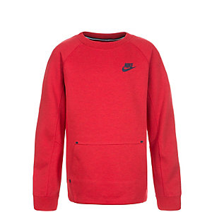 Nike Tech Fleece Crew Sweatshirt Kinder rot