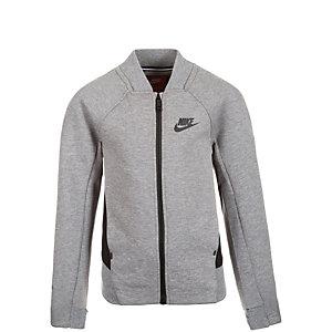 Nike Tech Fleece Bomber Trainingsjacke Mädchen grau / schwarz