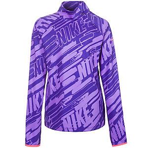 Nike Pro Hyperwarm 3.0 Mock Funktionsshirt Mädchen lila / pink