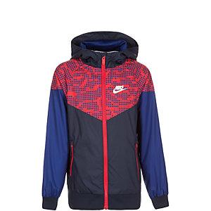 Nike Windrunner Trainingsjacke Kinder blau / rot