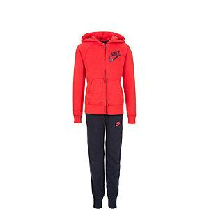Nike Graphic Color-Blocked Trainingsanzug Kinder rot / dunkelblau