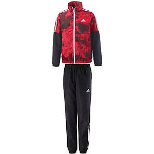 adidas Trainingsanzug Jungen schwarz/rot