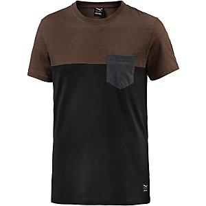 iriedaily T-Shirt Herren schwarz/braun