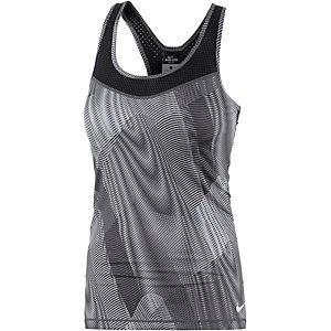 Nike Pro Funktionstank Damen schwarz/dunkelgrau