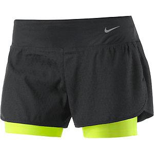 Nike Rival Laufshorts Damen schwarz/neonorange
