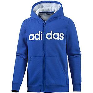 adidas Sweatjacke Jungen blau/weiß