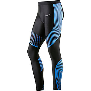 Nike Power Speed Lauftights Herren schwarz/hellblau