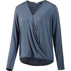 Short Stories Langarmshirt Damen blau