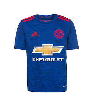adidas Manchester United 16/17 Auswärts Fußballtrikot Kinder blau / rot