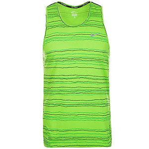 Nike Dri-FIT Cool Tailwind Stripe Funktionstank Herren grün / silber