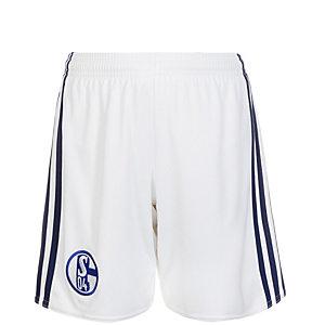 adidas FC Schalke 04 16/17 Heim Fußballshorts Kinder weiß / blau
