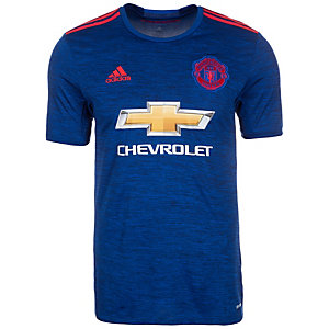 adidas Manchester United 16/17 Auswärts Fußballtrikot Herren blau / rot