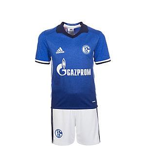 adidas FC Schalke 04 16/17 Heim Fußballtrikot Kinder blau / weiß