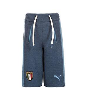 PUMA FIGC Italia Azzurri Fußballshorts Kinder dunkelblau / hellblau