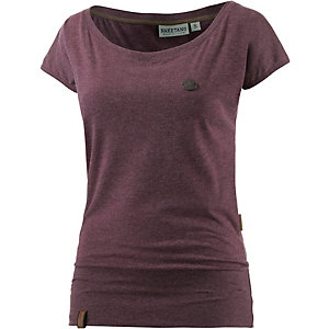 Naketano Wolle VIII T-Shirt Damen bordeaux melange