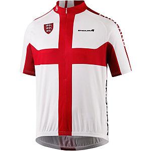 Endura England Fahrradtrikot Herren weiß rot
