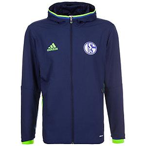 adidas FC Schalke 04 Trainingsjacke Herren dunkelblau / neongrün