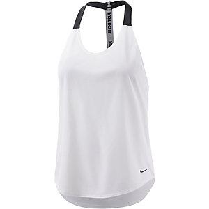 Nike Funktionstank Damen weiß/schwarz