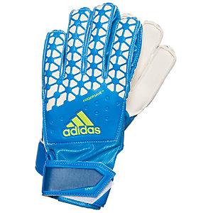 adidas ACE Fingersave Torwarthandschuhe Kinder blau / weiß