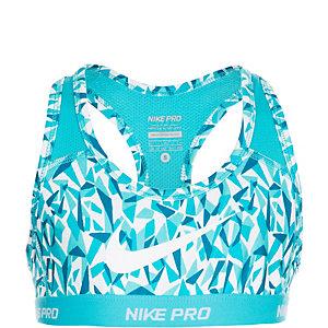 Nike Pro Hypercool Print Sport-BH Mädchen mint / blau / weiß
