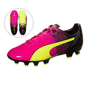 PUMA evoPOWER 1.3 Tricks Fußballschuhe Kinder pink / neongelb