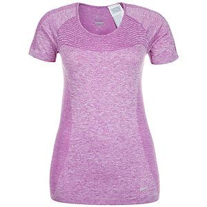 Nike Dri-FIT Knit Laufshirt Damen violett / silber