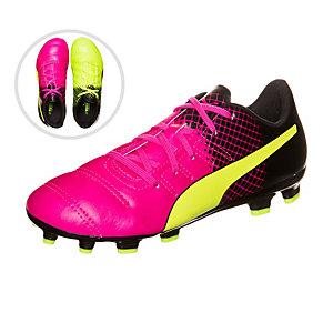 PUMA evoPOWER 1.5 Tricks Fußballschuhe Kinder pink / neongelb