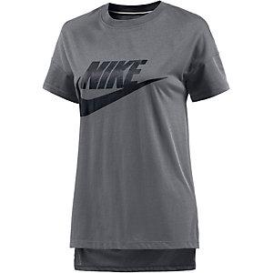 Nike T-Shirt Damen dunkelgrau