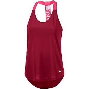 Nike Funktionstank Damen bordeaux/pink