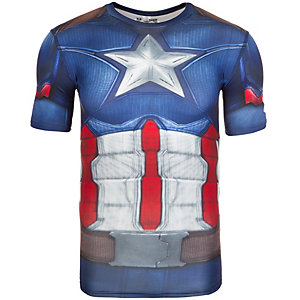 Under Armour HeatGear Captain America Suit Kompressionsshirt Herren blau / rot / grau