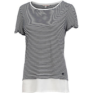 TOM TAILOR T-Shirt Damen blau/weiß